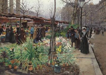 A Flower Market, Paris