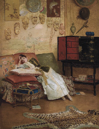 A Quiet Read in a Chinoiserie