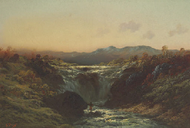A Mountain Torrent in the High