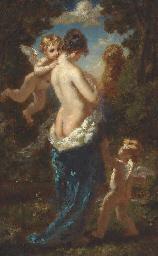 Jeune femme demi-nue, dos de t