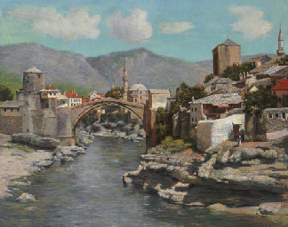 The Old Bridge in Mostar, Bosn