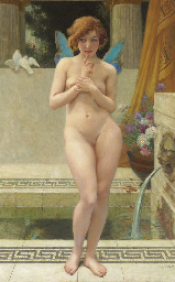 A Nymph by a Fountain