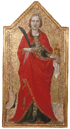 Saint Lucy with a female patro