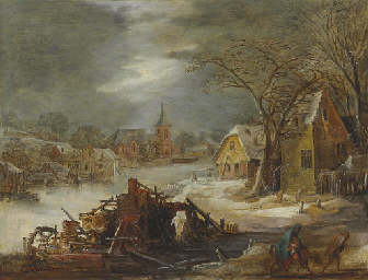 A winter landscape with the Fl