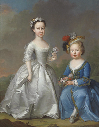 Double portrait of two childre