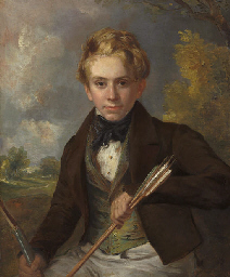 Portrait of a boy, half-length