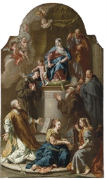 The Holy Family with Saints: a