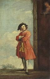 A gentleman in a landscape, wi