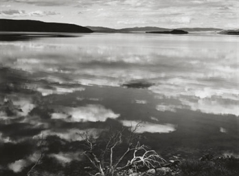 Mono Lake, Cloud Reflections,