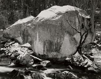 Rock and Snow, Tenaya Creek, Y