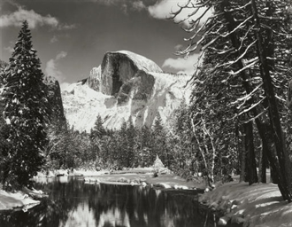 Half Dome, Merced River, Winte
