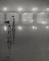 Le Pont des Arts dans le broui