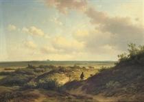 In the sunlit dunes, Haarlem beyond