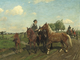 On the way to the horse market
