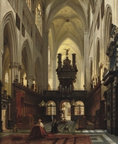 A Gothic church interior