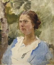 A nurse resting in a garden