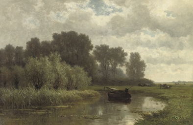 Fishing on the river Gein, nea
