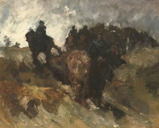 Wandelrit van de cavalerie in