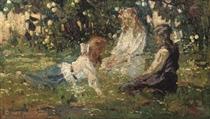 Zomer weelde: chatting in the garden