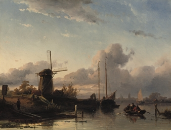 A river landscape in summer