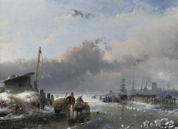 A view of Dordrecht in winter