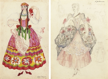 A costume design for a girl in