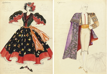 A costume design for a gypsy d