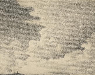 Sketch of landscape and clouds