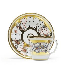 A Porcelain Trompe L'oeil Cup