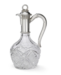 A Silver-Mounted Cut Glass Jug
