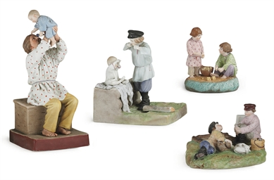 A Porcelain Group of a Peasant