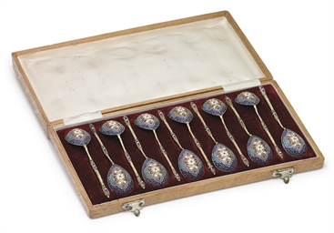 A Set of Twelve Silver and Clo