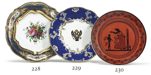 A Porcelain Dinner Plate