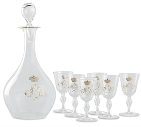 A Colorless Glass Liqueur Set
