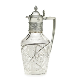 A Silver-Mounted Cut Glass Cla