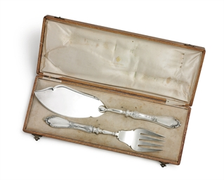 A Silver Fish Serving Set