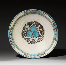 A TIMURID BLUE, WHITE AND TURQ