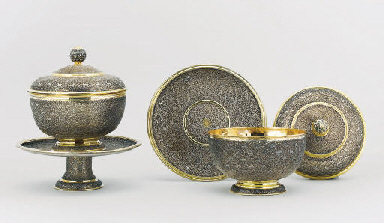 A PAIR OF PARCEL GILT SILVER C