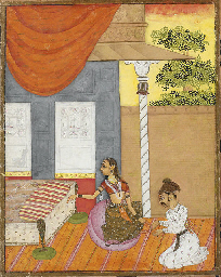 A COUPLE IN A PAVILION