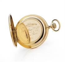 HAAS NEVEUX. AN 18K PINK GOLD OPENFACE KEYLESS LEVER POCKET WATCH