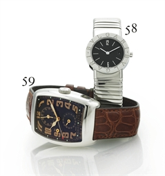 BULGARI. A LADY'S STAINLESS ST