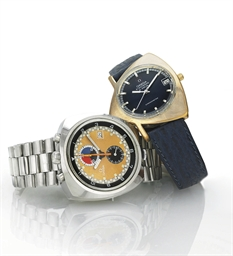 OMEGA.  A PAIR OF RARE AND UNU