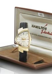 HAMILTON. AN OVERSIZED 14K GOL