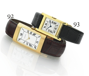 CARTIER.  AN 18K GOLD RECTANGU