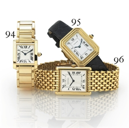 CARTIER. A LADY'S 18K GOLD REC