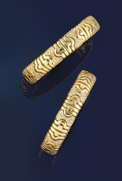 Two diamond set bangles
