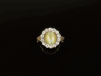 A 19th century chrysoberyl cat