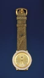 AN 18CT. GOLD AND DIAMOND QUAR