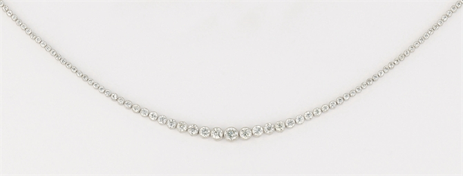 An Edwardian diamond tiara/nec