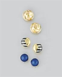 Three pairs of circular design